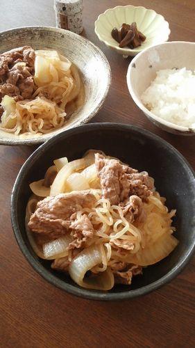 しら玉牛丼 by nekotano