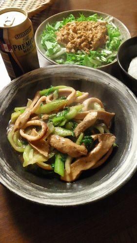 いかとチンゲンサイとエリンギの炒めもの by nekotano