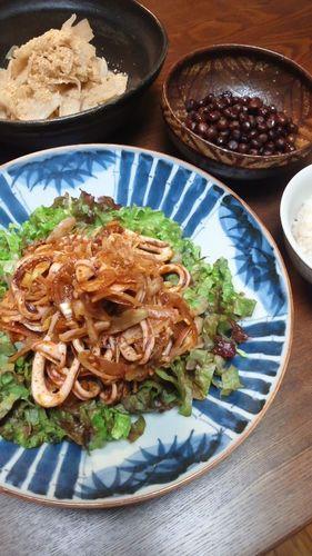 いかとみょうがの甘辛サラダ by nekotano