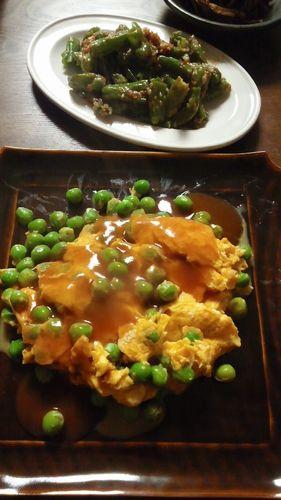 グリーンピースの卵炒め by nekotano